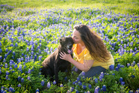 Alex and Shelbi in the Bluebonnets